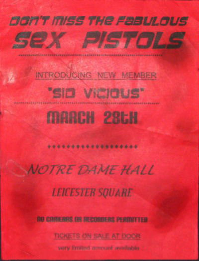 Pictures On My Wall – Sex Pistols introducing Sid Vicious