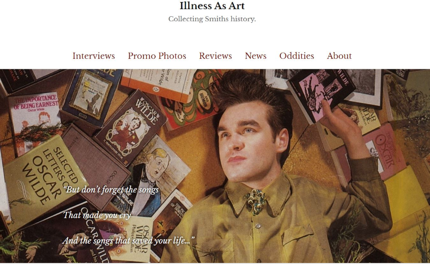 Curiosities – Illness As Art – Collecting Smiths history