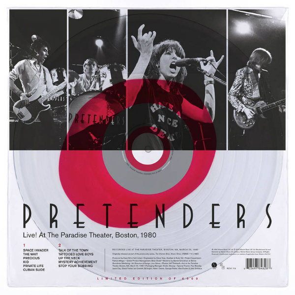 News – The Pretenders – Live! At the Paradise Theater, Boston, 1980 – RSD
