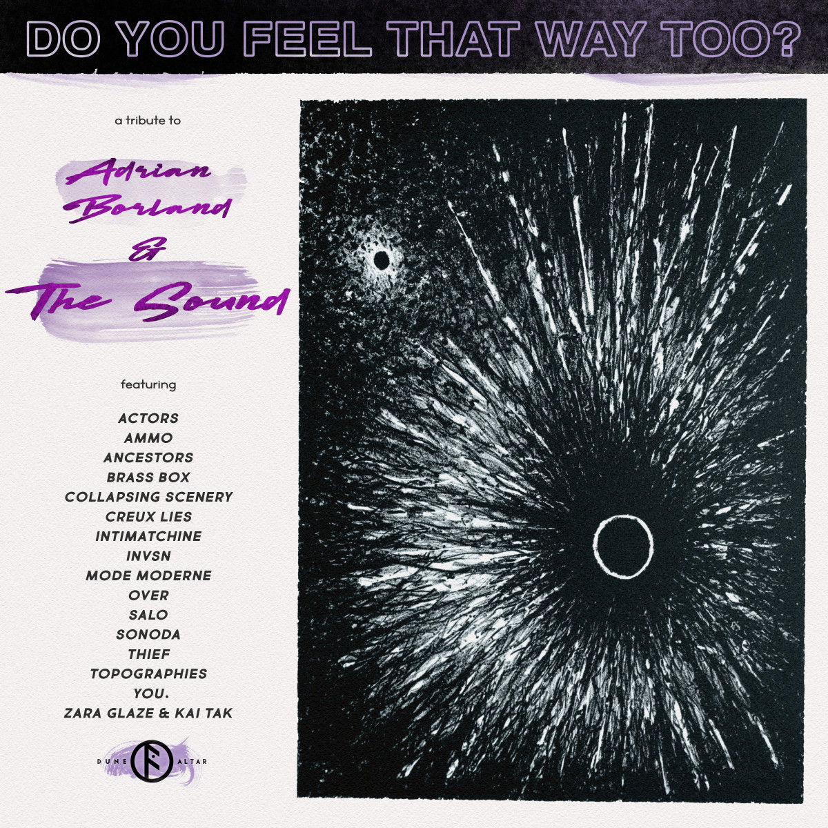 News –  Do You Feel That Way Too? – A Tribute to Adrian Borland and The Sound