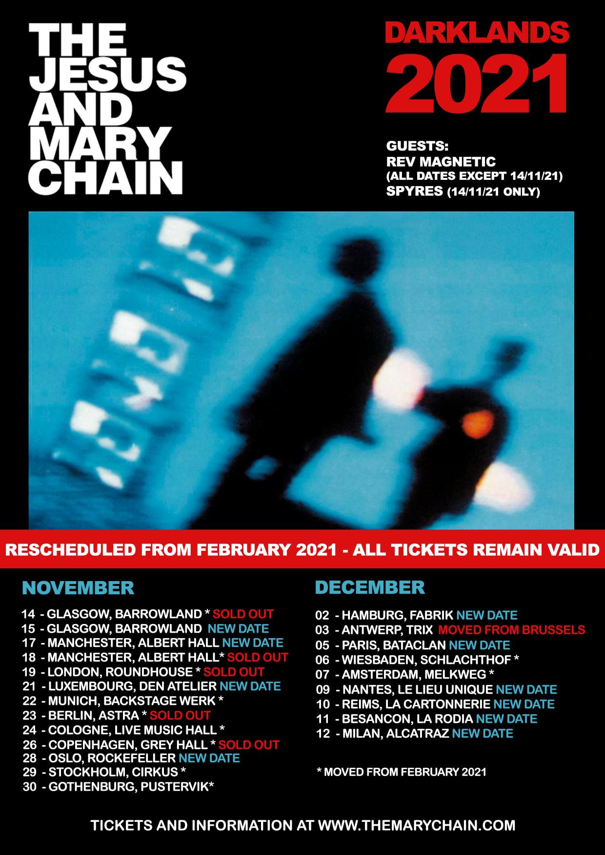 Bientôt En Concert Chez Nous – The Jesus And Mary Chain – Darklands Tour