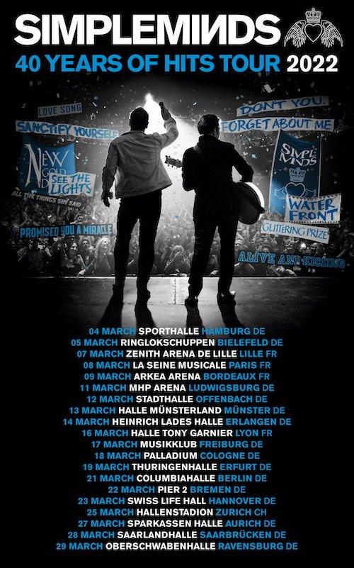Bientôt En Concert Chez Nous – Simple Minds – Report tournée francaise en 2022