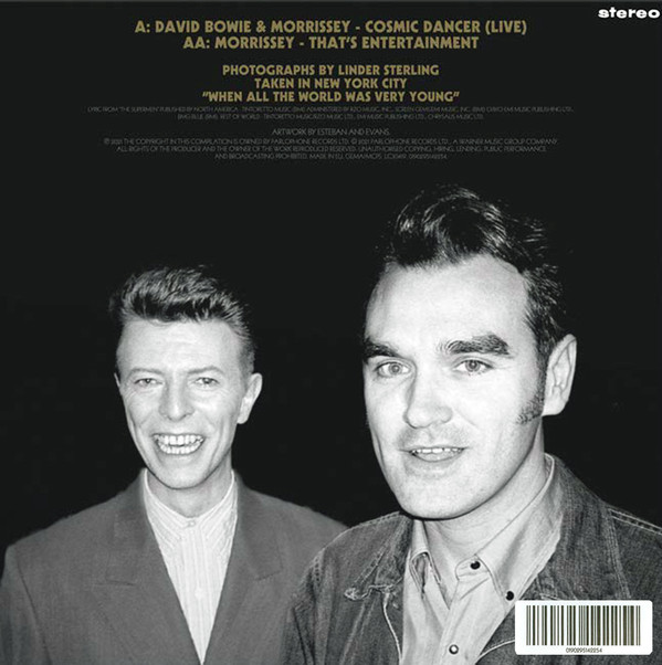 News – Morrissey – Cosmic Dancer b/w That's Entertainment