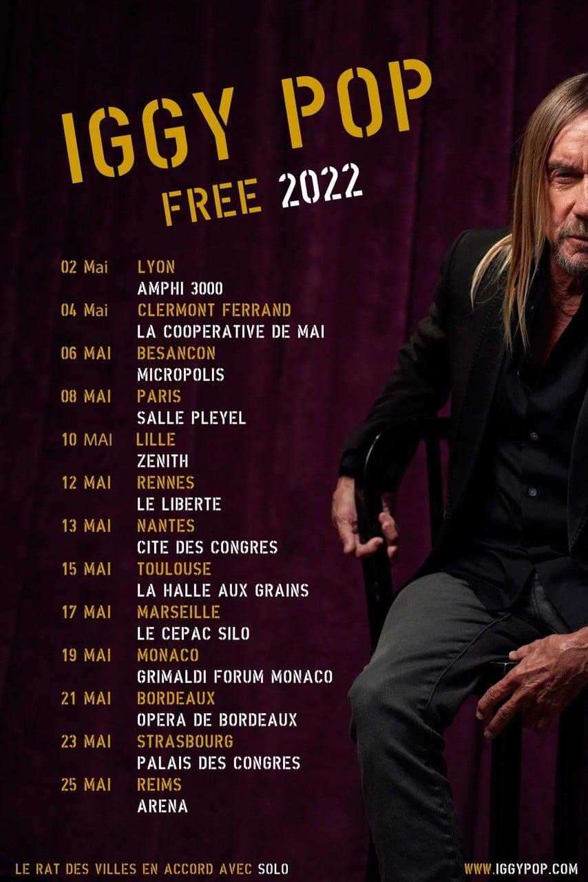 Bientôt En Concert Chez Nous – Iggy Pop – Tournée 2022