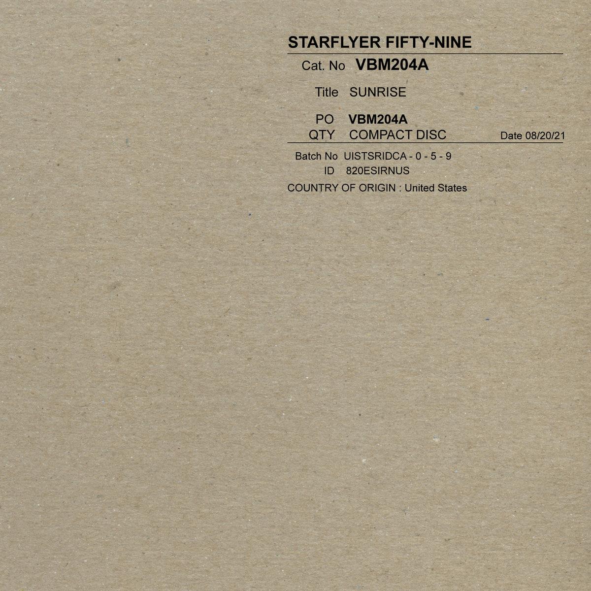 Single of the week – Starflyer 59 – Sunrise