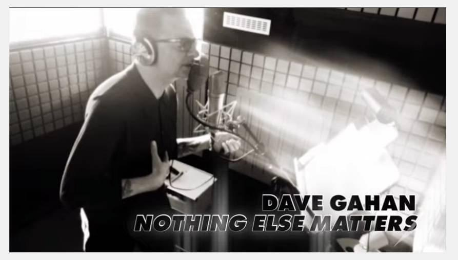 News – Dave Gahan – Nothing Else Matters (Metallica cover)